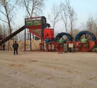 破碎洗沙设备的产量及工作原理