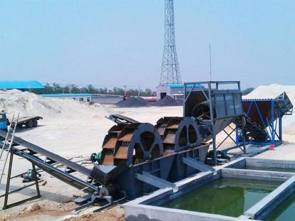 水轮洗沙机