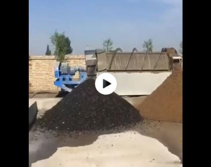 滚筒式砂石分离机工作现场